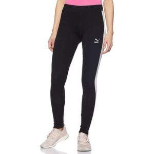 Puma Classics Logo T7 Pantalon de Sport Femme, Coton Noir, FR (Taille Fabricant : XS)