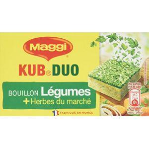 Maggi Bouillon KUB DUO Légumes et Herbes du marché (10 Tablettes) - 105g