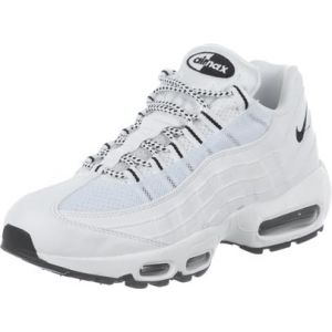 Nike Air Max 95, Chaussures de Running Entrainement Homme, Bianco (White/Black-Black), Taille 47 (12 UK)