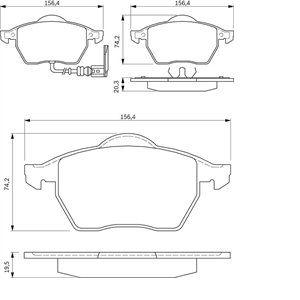 Bosch BP262 - 4 Plaquettes de frein Avant