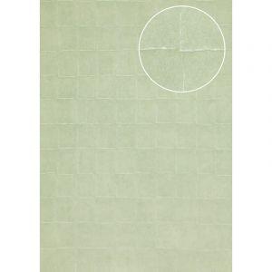 Atlas Papier peint aspect pierre carrelage INS-0805-6 papier peint texturé gaufré avec des figures géométriques satiné turquoise turquoise-menthe turquoise pastel 7,035 m2
