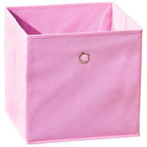 Pegane Bac rangement pliable WINNY rose 31,5 x 31,5 x 31 cm