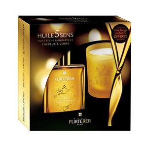 Furterer Huile 5 Sens - Coffret huile sèche sublimatrice et bougie parfumée