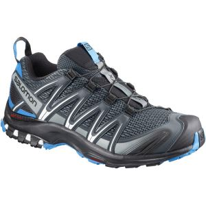 Salomon XA Pro 3D, Chaussures de Trail Homme, Gris (Stormy Weather/Black/Hawaiian Surf 000), 42 2/3 EU
