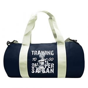 Abystyle Dragon Ball - Sac de Sport Training to go Super Saiyan- Navy/White