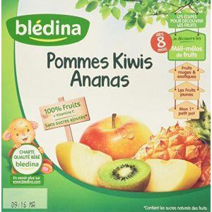 Blédina Coupelles Pommes Kiwis Ananas 4 x 100 g - dès 8 mois