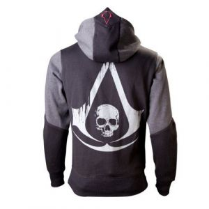 Assassins Creed 4 Hoodie Black Grey Character S