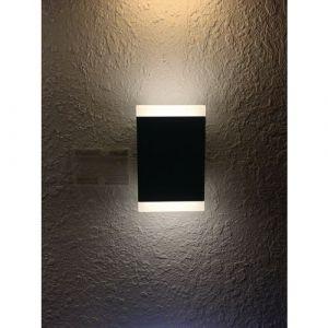 Lumihome Applique LED TWIN rectangle noire - 1000 lumens - Blanc 4000K
