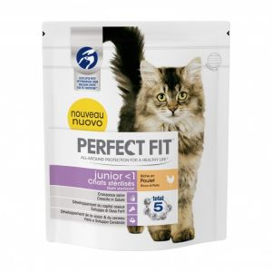 Perfect fit Croquettes Junior pour chat stérilisé au poulet 400 g