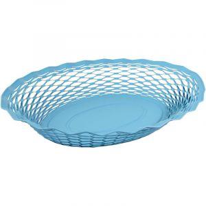Roger orfevre Corbeille à pain ovale bleue en inox 25 x 18 cm