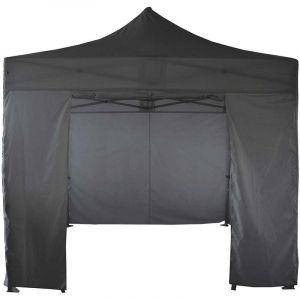 MobEventPro Mur porte zippable tente pliante PRO+ 50MM en 3m gris