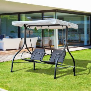Outsunny Balancelle design de jardin 2 places 184 x 120 x 170 cm