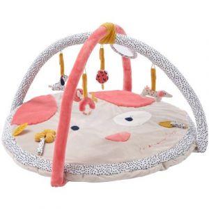 Noukie's Tapis d'éveil en véloudoux avec arches Amy & Zoé chien rose (90 cm)