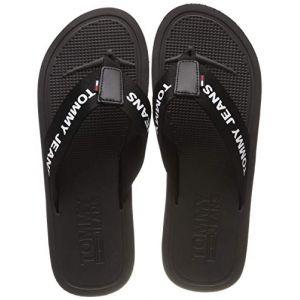 Tommy Jeans Hilfiger Denim Moulded Beach Sandal, Tongs Homme, Noir (Black 990), 40 EU
