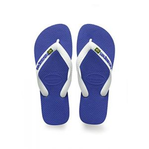 Havaianas Brasil Logo, Tongs Mixte Adulte, Bleu (Marine), 31/32 EU (29/30 Brazilian)