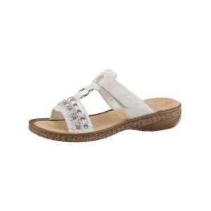 Rieker 628M6 Femme Sandale à lanières,Sandales à lanières,Chaussures d'été,Confortable,Plat,ice/80,41 EU / 7.5 UK