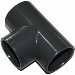 Jardiboutique Lot 2 pièces Te en PVC 90° égale Manchon 50 mm PN16
