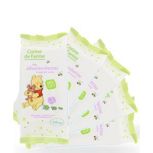 Corine de Farme Lot de 5 lingettes bébé visage et mains Winnie l'ourson