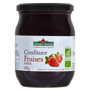 Côteaux nantais Confiture fraises extra Bio 690g