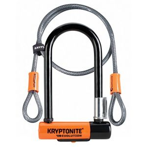 Kryptonite Evolution 7 Antivol Mixte Adulte, Noir/Orange