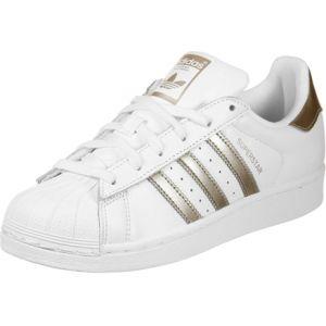 Adidas Superstar, Baskets Femme, Blanc (Ftwbla/Ciberm 000), 40 2/3 EU