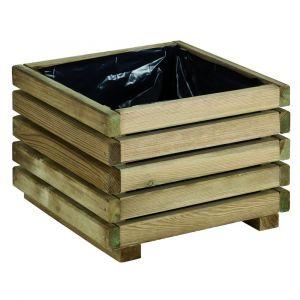 Jardipolys Bac à fleurs en bois carré KUB 40 - BURGER