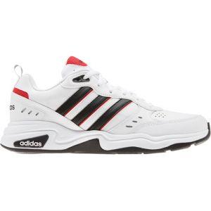 Adidas Strutter Chaussures de Course pour Homme - Blanc Noir Rouge, 46 EU