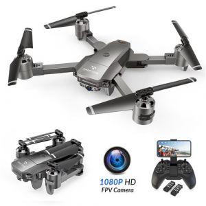 SNAPTAIN A15F Drone Pliable avec Caméra 1080P FHD 120° Grand Angle, Positionnement de Flux Optique, Suivez-M i, 24 Mins d'Autonomie