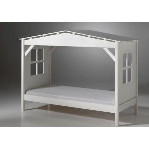 Lit cabane pour enfant en pin (90 x 200 cm)