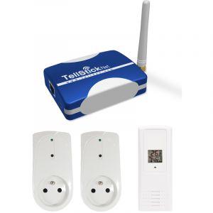 Telldus Pack de démarrage TellStick Net avec prises et sonde thermo/hygro