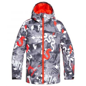 Quiksilver Vestes Mission Printed Youth - Poinciana Giantforce - Taille 10 Années