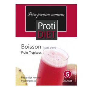Proti Diet Boisson froide arôme fruits tropicaux, 5 sachets