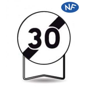 Taliaplast 524021 - Panneau signalisation prescription b33 fin d'interdiction 30km/h t1 850mm
