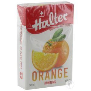 Halter Bonbons Orange sans sucre, 40g