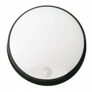 Silamp Applique Murale LED Noire 14W Ronde avec Détecteur de Mouvement IP54 - Blanc Neutre 4000K - 5500K
