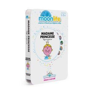 Pack projecteur Moonlite avec histoire Madame Princesse