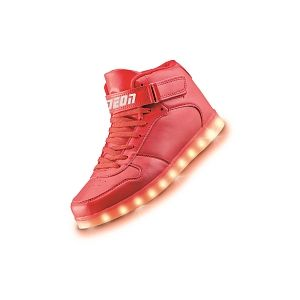 Yvolution Chaussures hautes LED Neon Kyx Rouge