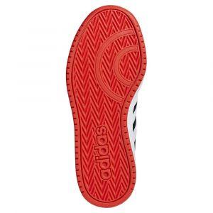 Adidas HOOPS 2.0 K - NOIR/ROUGE - enfant - CHAUSSURES BASSES