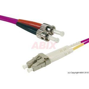 Abix 391764 - Câble jarretiere fibre optique duplex LC/ST OM3 50/125 8m