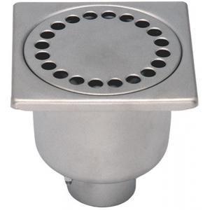 Limatec 10401 - Siphon inox 100x100 diamètre 40 hauteur 70 rosette libre garde d'eau 50mm