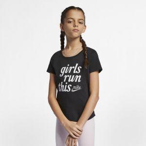 Nike Tee-shirt Sportswear Fille plus âgée - Noir - Taille Female