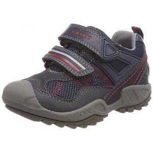 Geox J New Savage A, Sneakers Basses garçon, Bleu (Navy), 31 EU