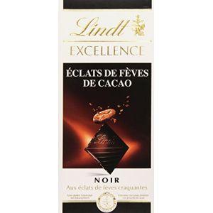 Lindt Excellence Noir aux Éclats de Fèves 100 g