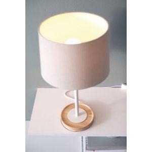 Philips Lampe à poser pied en bois Limba H50 cm - Blanc