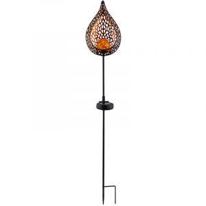 Globo Lampe solaire à LED, design flamme, hauteur 90 cm
