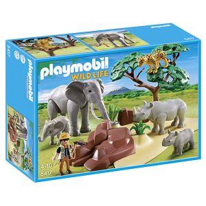 Playmobil 5417 Wild Life - Animaux de la savane avec photographe