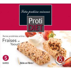 Proti Diet Barres protéinées arôme fraise et yaourt, 5 barres