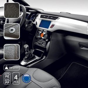 Sumex Tapis de sol moquette sur mesure Renault Clio IV sup à 2012