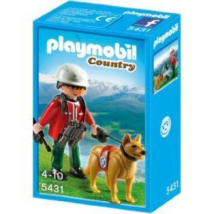 Playmobil 5431 - Sauveteur De Montagne Avec Chien