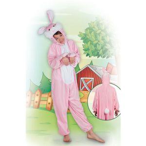 Déguisement peluche lapin rose enfant